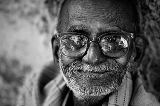 happly-old-indian-man