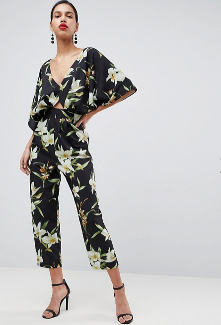 Screenshot-2018-3-20 ASOS Jumpsuit with Kimono Sleeve in Lily Print at asos com