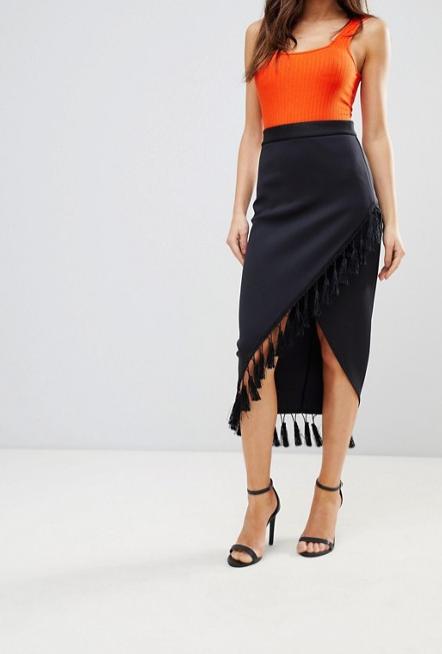 Screenshot-2018-3-20 ASOS Scuba Pencil Skirt with Fringe Detail at asos com