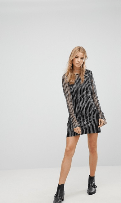 Screenshot-2018-3-20 Honey Punch Long Sleeve Dress In Stripe Sequin at asos com