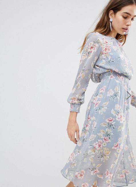 Screenshot-2018-3-20 New Look Floral Shirred Waist Midi Dress at asos com