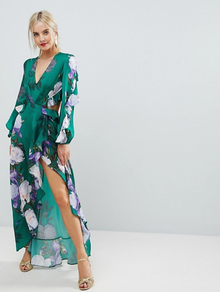 Screenshot-2018-3-21 ASOS PETITE Floral Print Ruffle Maxi Dress at asos com
